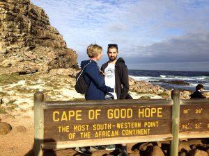 Ulli und Rouven am Kap der guten Hoffnung