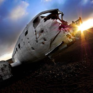 """Crashed DC-3"" 